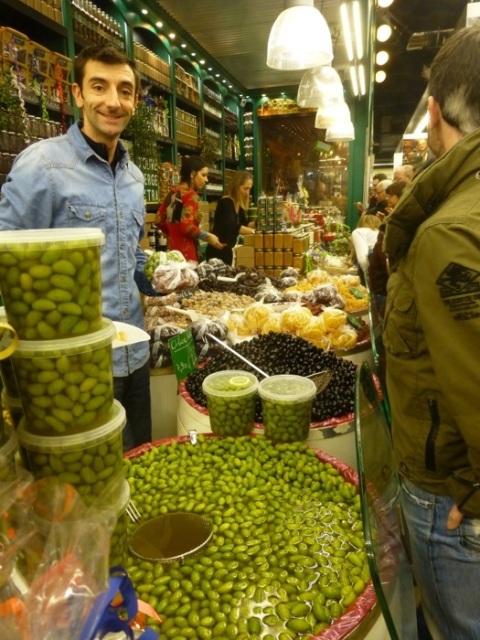 les halles olive stall
